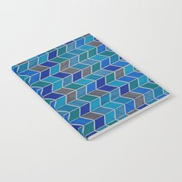 Blue and grey hue chevron Notebook
