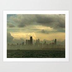 Foggy Michigan Sea #4 Art Print