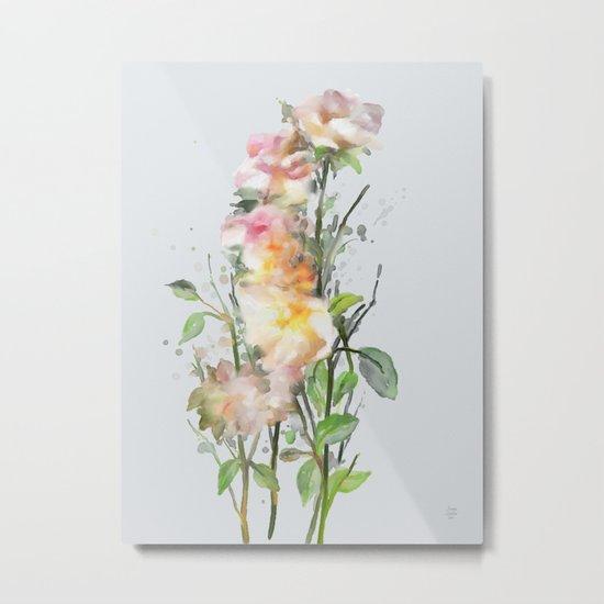Wild roses, watencolors Metal Print