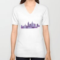 melbourne V-neck T-shirts featuring Melbourne by S. Vaeth