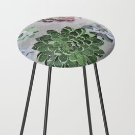 Simple succulents Counter Stool