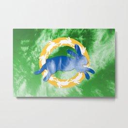 Rabbitland Flag Metal Print
