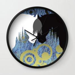 Yin & Yang Horses SeaStorm Wall Clock