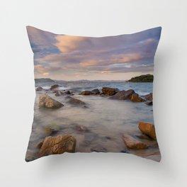 Colourful Ocean Scene Throw Pillow