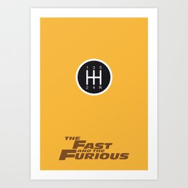 Lab No. 4 - The Fast and the Furious Movie Inspire Quotes Poster Art Print