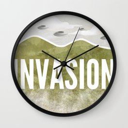INVASION - Summer of discontent Wall Clock