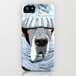 Great Dane Winter is Here iPhone Case