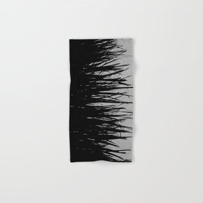Concrete Fringe Black on Side Hand & Bath Towel