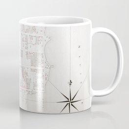 Vintage Map of New Bern NC (1769) Coffee Mug