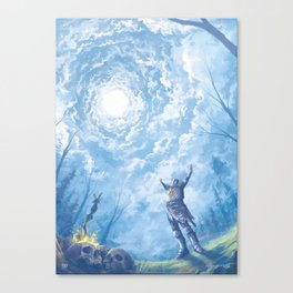praise the sun - dark souls Canvas Print