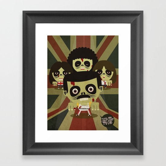 queen zombie 2 Framed Art Print