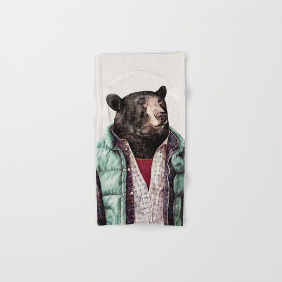 Black bear Hand & Bath Towel
