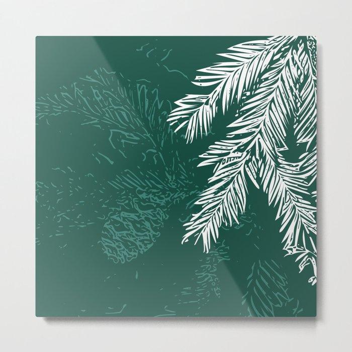 Green Christmas Pine Metal Print