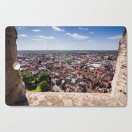 View of York from York Minster Cathedral tower Cutting Board
