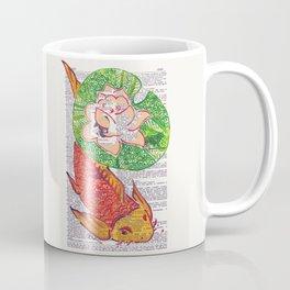 No Need to be Koi, Roi (koi and water lily on dictionary page) Coffee Mug