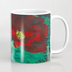 Red Flower Wreath Coffee Mug