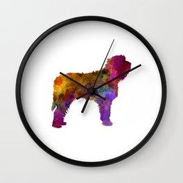 Otterhound in watercolor Wall Clock