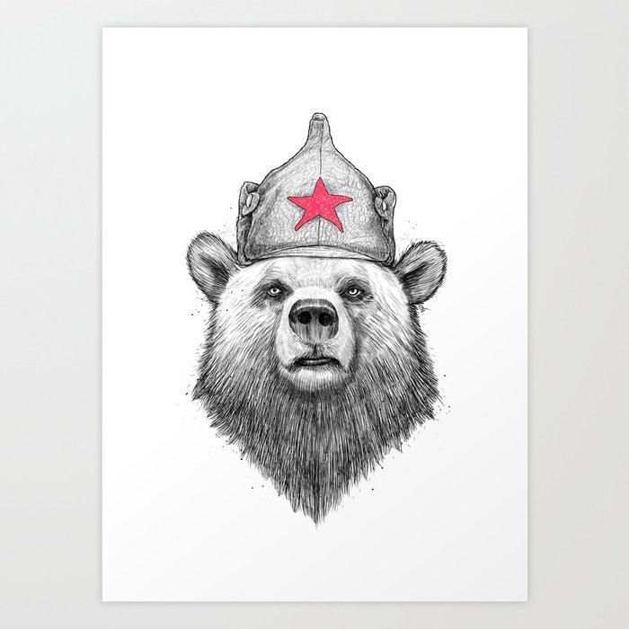 Russian Bear Art Print By Nikitakorenkov Society6