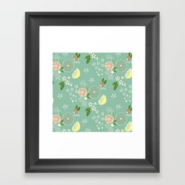 Summer Print Seafoam Framed Art Print