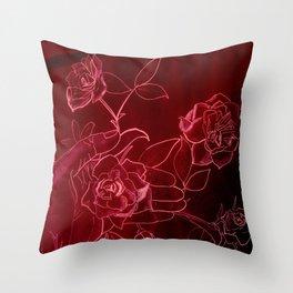 Rose scent Throw Pillow