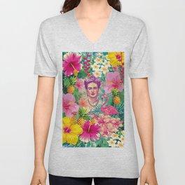 Frida Jungle Unisex V-Neck