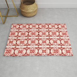 CORAL ABSTRACT LEAVES Rug