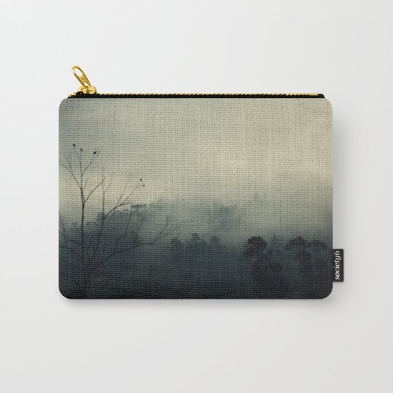 moody fog mountain Carry-All Pouch