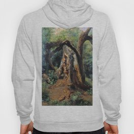 An Old Tree 1859 By Lev Lagorio   Reproduction   Russian Romanticism Painter Hoody