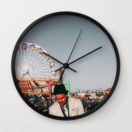 Santa Monica Pier wheel Wall Clock