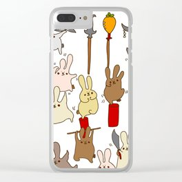Every bunny was kung fu fighting Clear iPhone Case