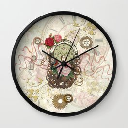 Romantic Steampunk Wall Clock
