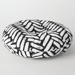 Painterly Herringbone Floor Pillow