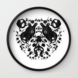 Rorschach Panda Wall Clock