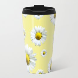 Yellow Daisy Chains Travel Mug