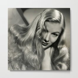 Veronica Lake black and white photography / black and white photographs Metal Print
