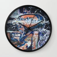angels Wall Clocks featuring Angels by Prime Vice