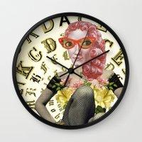 font Wall Clocks featuring FONT by Julia Lillard Art