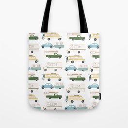 Vintage RV Motorhome Trailers Campers Tote Bag