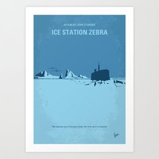 No711 My Ice Station Zebra minimal movie poster Art Print
