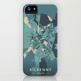 Kilkenny, Ireland - Cream Blue iPhone Case