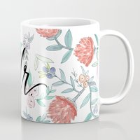 jenna kutcher Mugs featuring Mr. - Calligraphy + Watercolor Floral  by Jenna Kutcher