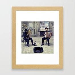 Madrid street Musicians Framed Art Print
