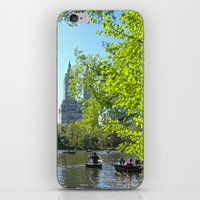 rowing iPhone & iPod Skins featuring Rowing at Central Park, NYC by Martha Washington