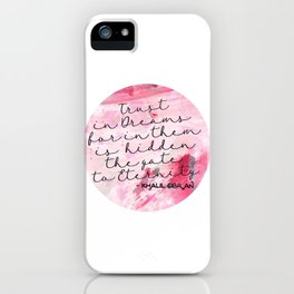 Trust in Dreams calligraphy iPhone Case
