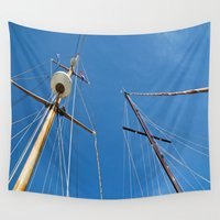 sail Wall Tapestries featuring Sail by M. Gold Photography