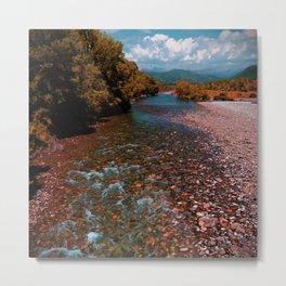 Autumn mountain river #photography #landscape Metal Print