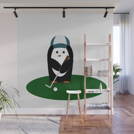 Putting Penguin Wall Mural