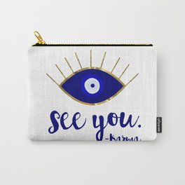 Evil Eye See You Karma Carry-All Pouch