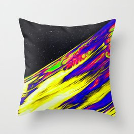The Cabal Iridescent Space Vaporwave Marble Abstract Background Throw Pillow