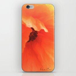 Demure Poppy iPhone Skin